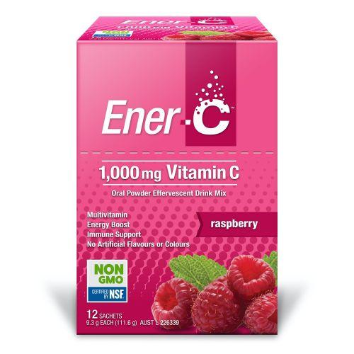 Raspberry Effervescent Multivitamin Drink - 12 Sachets