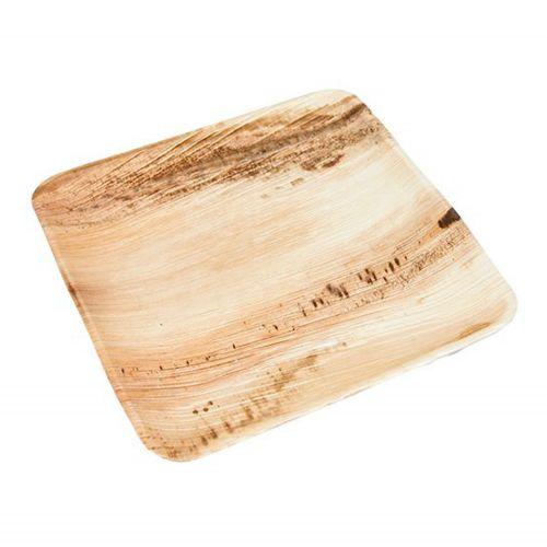Palm Large Square Plate (25cm) 5PC - Natural