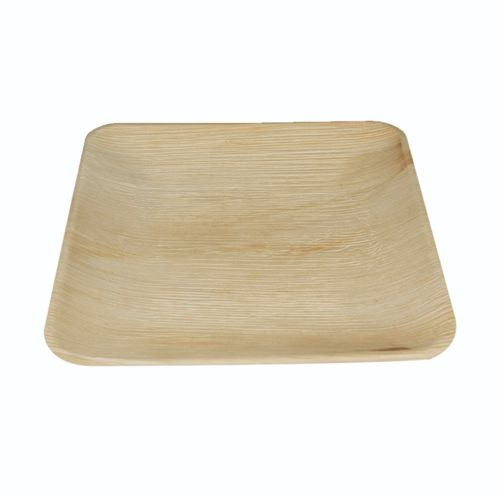 Palm Square Plate w/ Ribs (15cm) 5PC - Natural