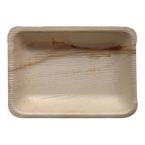 Palm Rectangle Plate (25x15cm) 5PC - Natural