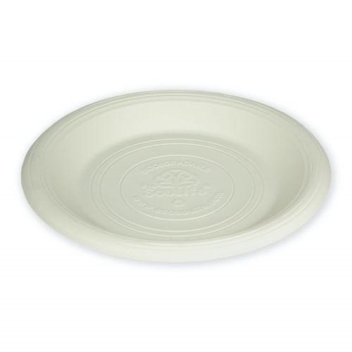 Cornstarch Side Plate (18cm) 20PC - Natural