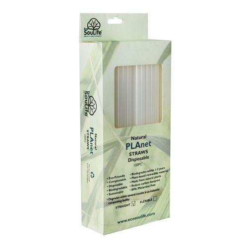 Straight PLA Straws (White) - 100s