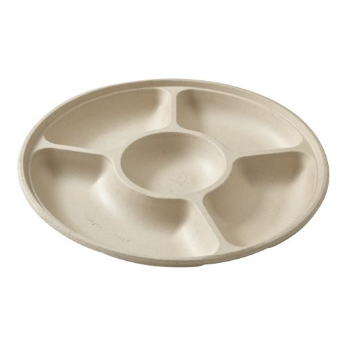 Harvest 5 Compartment Serving Tray - 2 Pack