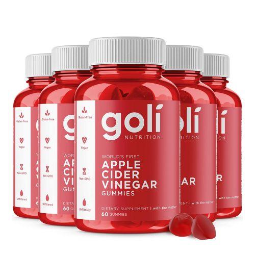 5 x Apple Cider Vinegar Gummies 60 Pieces